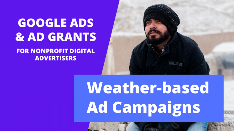 Weather based ad campaign management