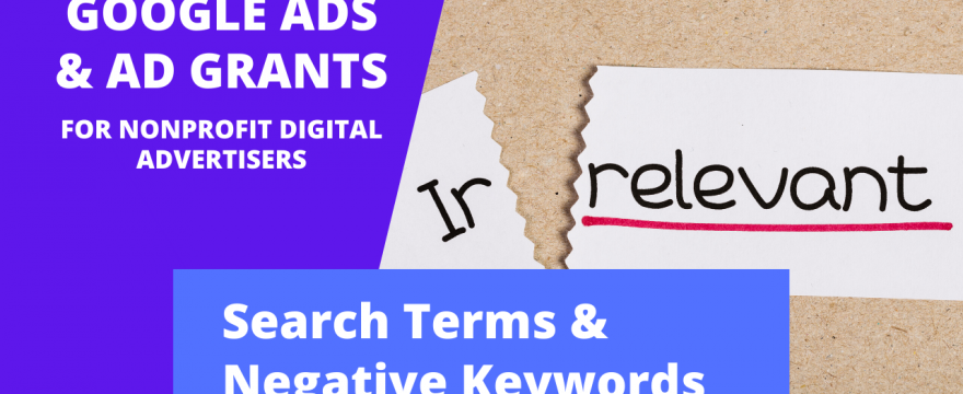 Search terms and negative keywords